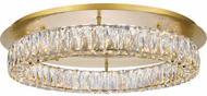 Elegant 3503F26G Monroe Gold LED Flush Lighting
