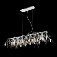 Elegant 3600D42C-RC Harmony Crystal Finish 42  Wide Kitchen Island Light Fixture
