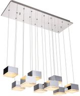 Elegant 5100D9C Glasgow Contemporary Chrome LED Multi Ceiling Light Pendant
