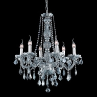 Elegant 7856D24SS-SS-RC Verona Silver Shade Crystal Traditional Chandelier in Silver Shade Finish