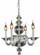 Elegant 7872D17C Champlain Chrome Mini Ceiling Chandelier