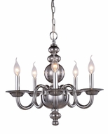 Elegant 7872D20SS Champlain Siver Shade Mini Chandelier Lighting