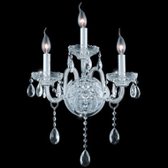 Elegant 7953W3C/EC Verona Chrome Lamp Sconce