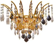 Elegant 8033W16G-RC Victoria Gold Wall Mounted Lamp