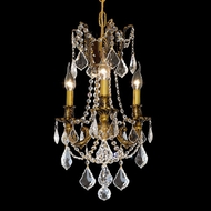 Elegant 9203D13FG-RC Rosalia 18 Tall Classic French Gold Hanging Chandelier with Crystals