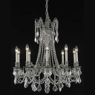 Elegant 9210D28PW-RC Rosalia 28 Traditional Pewter Chandelier Lighting with Clear Crystals