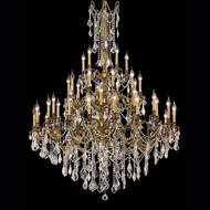 Elegant 9245G54FG-RC Rosalia Classic Crystal 45 Light Large Chandelier with French Gold Finish