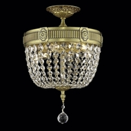 Elegant 9303F12FG-RC Esperanza Classic Crystal French Gold Semi Flush Mount Light Fixture