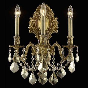 Elegant 9603W14FG-GT-RC Monarch French Gold Wall Light Fixture