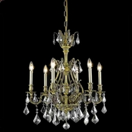 Elegant 9606D24AB-SS-RC Monarch Antique Bronze 6-light Silver Shade Crystal Chandelier Lamp