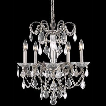 Elegant 9705D18PW-RC Athena Pewter Mini Chandelier Lighting