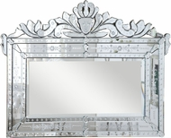 Elegant Lighting MR-2005C Venetian Traditional 42.5  Wide Wall Mirror