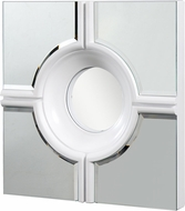 Elegant Lighting MR-3018W Contemporary White Lacquer Finish 24 Wide Wall Mounted Mirror