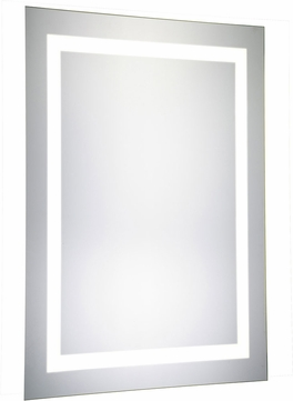 Elegant Lighting MRE-6002 Element Contemporary Glossy White LED 20 x 40 Rectangle Wall Mounted Mirror