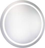 Elegant Lighting MRE-6005 Element Modern Glossy White LED 30  Round Mirror