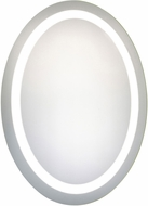 Elegant Lighting MRE-6009 Element Modern Glossy White LED 23  x 30  Oval Mirror