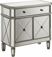 Elegant MF6-1002SC Contempo Hand Rubbed Antiquesilver Cabinet