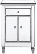 Elegant MF6-1020S Contempo Hand Rubbed Antiquesilver Cabinet