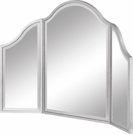 Elegant MF6-1042S Contempo Silver Paint Mirror