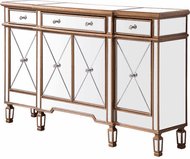 Elegant MF6-1101GC Contempo Hand Rubbed Antique Gold Sideboard