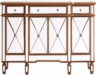 Elegant MF6-1110GC Contempo Hand Rubbed Antique Gold Credenza