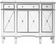 Elegant MF6-1111SC Contempo Hand Rubbed Antiquesilver Sideboard
