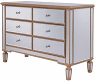Elegant MF6-1117G Contempo Hand Rubbed Antique Gold Cabinet