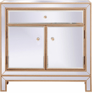 Elegant MF71034G Modern Antique Gold Cabinet
