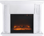 Elegant MF9901-F1 Modern Clear Mantle with Fireplace