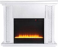 Elegant MF9901-F2 Modern Clear Mantle with Fireplace
