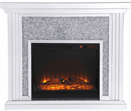 Elegant MF9902-F1 Modern Clear Mantle with Fireplace