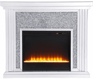 Elegant MF9902-F2 Modern Clear Mantle with Fireplace