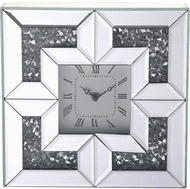 Elegant MR9207 Modern Clear Mirror Wall Clock