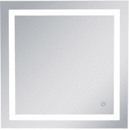 Elegant MRE13030 Helios Contemporary Silver LED Wall Mounted Mirror
