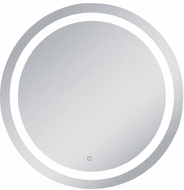 Elegant MRE23636 Helios Contemporary Silver LED Wall Mounted Mirror