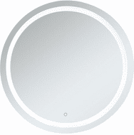 Elegant MRE24242 Helios Contemporary Silver LED Wall Mounted Mirror