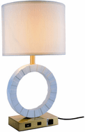 Elegant TL3002 Brio Brushed Brass And White Table Top Lamp