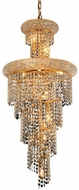 Elegant V1800SR16G-RC Spiral Gold 16  Hanging Pendant Lighting