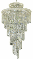 Elegant V1800SR48C/RC Spiral Chrome Foyer Light Fixture