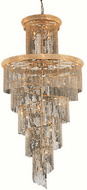 Elegant V1800SR48G/RC Spiral Gold Foyer Light Fixture