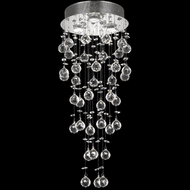 Elegant V2006F12C/RC Galaxy Chrome Multi Pendant Hanging Light