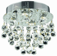 Elegant V2006F14C/RC Galaxy Chrome Ceiling Light Fixture