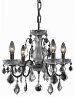 Elegant V2015D17DB/RC St. Francis Dark Bronze Mini Chandelier Lamp