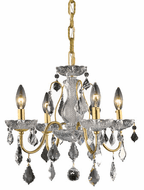 Elegant V2015D17G/RC St. Francis Gold Mini Lighting Chandelier