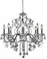 Elegant V2015D26DB/RC St. Francis Dark Bronze Chandelier Light
