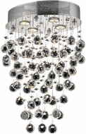 Elegant V2022D16C-RC Galaxy Chrome Halogen 11.5  Multi Pendant Lighting Fixture
