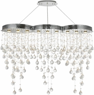 Elegant V2025D48C-RC Galaxy Chrome Halogen 48  Island Light Fixture