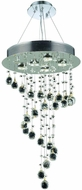 Elegant V2028D26C-RC Galaxy Chrome Halogen Multi Pendant Hanging Light