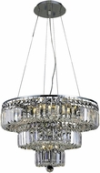Elegant V2036D20C-RC Maxime Chrome 20  Drop Ceiling Light Fixture