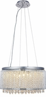 Elegant V2092D20C-RC Influx Chrome Halogen 20  Drum Drop Lighting Fixture